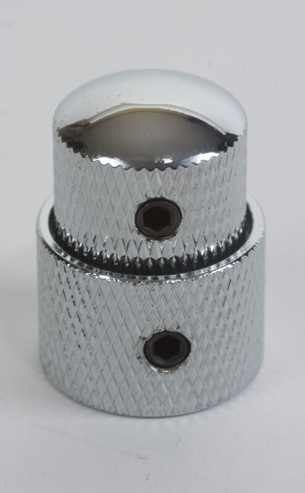 Poti-Knopf für Tandem-Potis, silber
