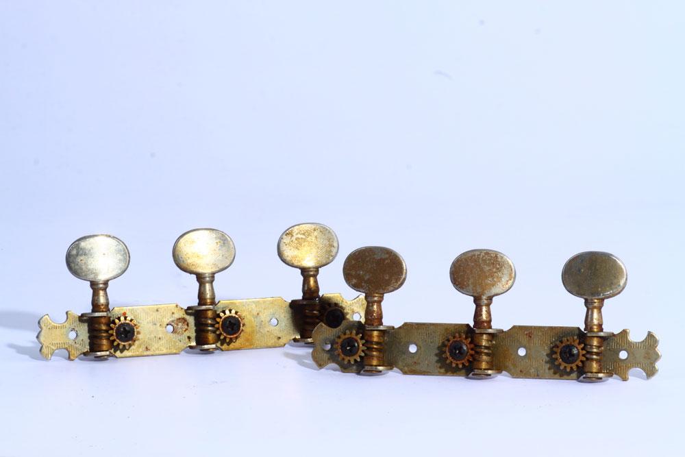 Stimm-Mechaniken, Gitarren-Mechaniken 3 rechts, 3 links alt