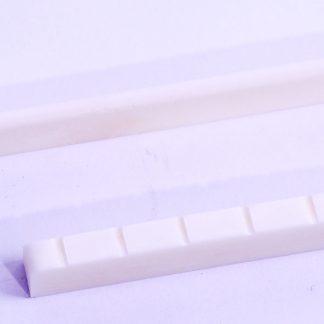 Sattel und Brückeneinlage aus Knochen für Westerngitarre