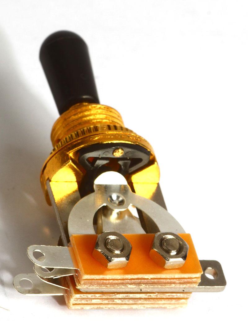 Toggle-Schalter Pickup-Wahlschalter 3-Wege offen gold oder chrom ...