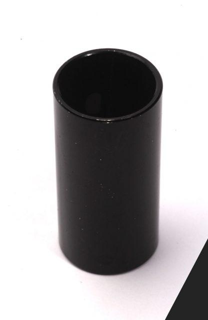 Slide-Rohr Bottleneck schwarz aus Stahl